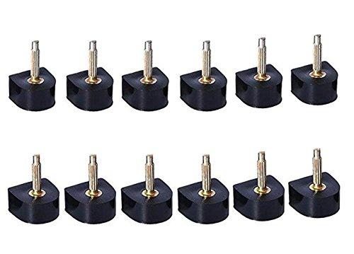 6Paar (je 2Paar für 8mm/9mm/10mm) schwarz Ferse Spitze Ersatz Schuh Reparatur Spitze High Heel Gap Displayschutzfolie für Frauen Lady Mädchen