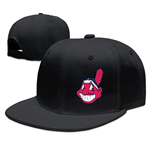 YVES Cleveland Indians Logo Blank Baseball Cap Ash Black