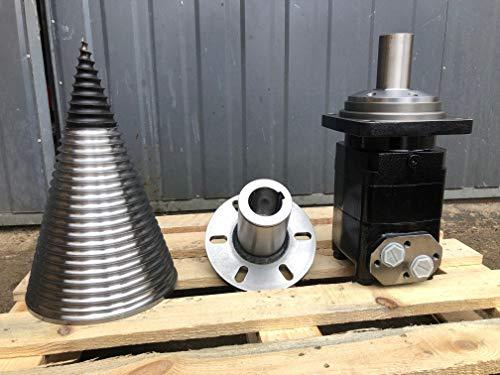 Holzspalter Kegel + Flange + Hydraulikmotor SMV800 Drillkegel Kegelspalter Set