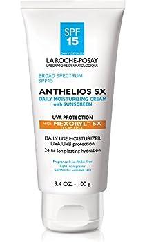 La Roche-Posay Anthelios SX Daily Face Moisturizer Cream with Sunscreen Broad Spectrum SPF 15 Oxybenzone Free Moisturizer with Mexoryl 3.4 Fl oz
