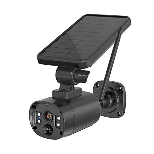 Jaimenalin CáMara Solar Impermeable, HD, Audio Bidireccional, VisióN Nocturna, DeteccióN Humana, Alexa, Tarjeta/Almacenamiento en la Nube para Exteriores