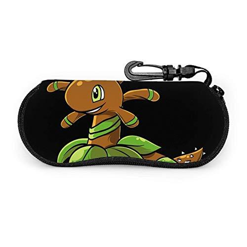 Estuche para gafas Un lindo animal marrón unisex portátil de neopreno con cremallera Gafas de sol Estuche blando