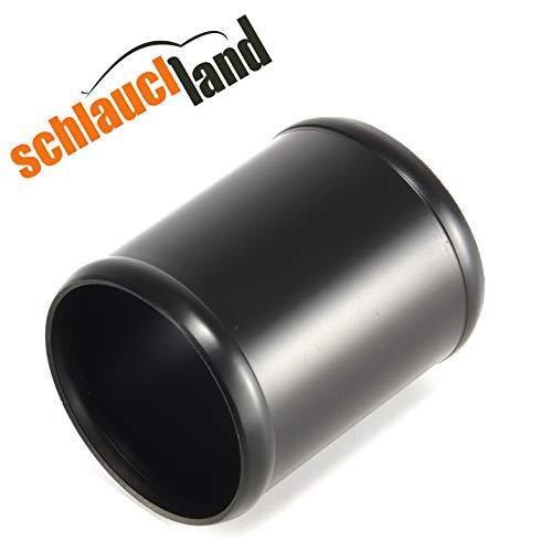 Alu-Verbinder AD 60mm schwarz***Alurohr Aluminium Rohr Schlauchverbinder Turbo