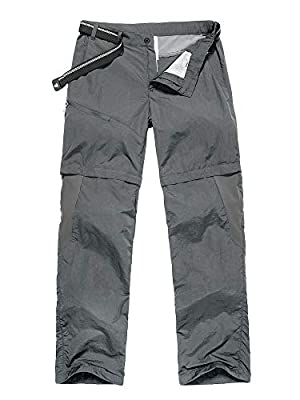 Jessie Kidden Hiking Pants Mens, Outdoor UPF 50+ Quick Dry Lightweight Safari Fishing Cargo Pants (6045 Grey, 29)
