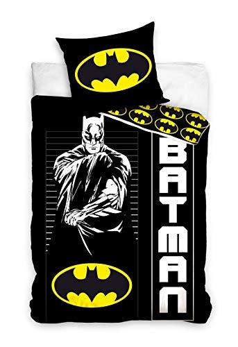 Carbotex Batman Bettwäsche Kinderbettwäsche 135x200 + 80x80 cm Doppelseitige 100{ad08090b9a18be9c6244b2d3e9cc1db88e144538e7a56bddec2ded8f7084f364} Baumwolle