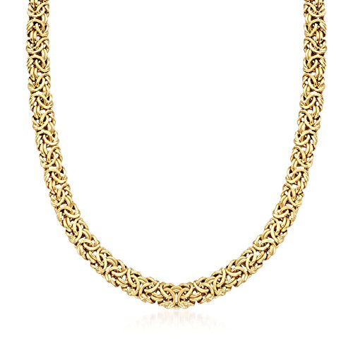 Ross-Simons 18kt Gold Over Sterling Silver Byzantine Necklace. 20 inches