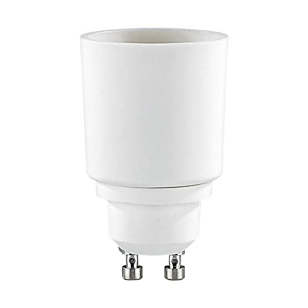 Lunartec-Sockel-Adapter-Lampensockel-Adapter-Adapter-GU10-auf-E27-4er-Set-Adapter-Glhbirnenfassung