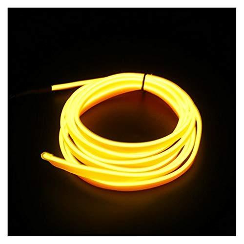 MUZIWENJU Auto Innenbeleuchtung 1m / 2m / 3m / 5m Streifen Auto l e d Streifen girland EL draht Seil Auto Dekoration neon l e d Lampe Flexible Seil Rohr (Farbe : 3M Cigarette Drive, Größe : Yellow)