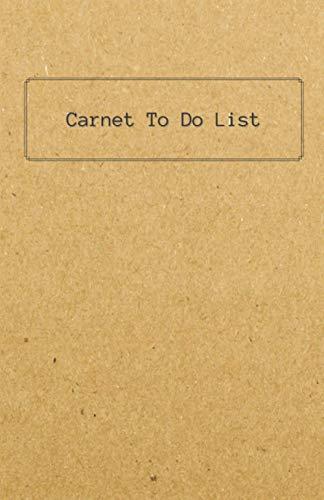 """Carnet """"To Do List"""": Listes à cocher / Organisateur de tâches quotidiennes / Réalisation d'objectifs : 100 pages format A5"""
