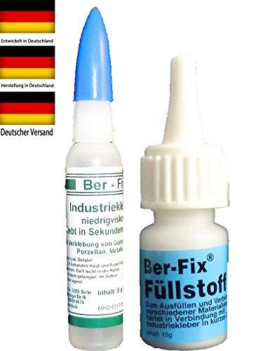 Ber - Fix® Füllstoff Set 5g Industriekleber 15g Granulat – Die Mini Schweißnaht – zum Testen ideal – Kleine Menge