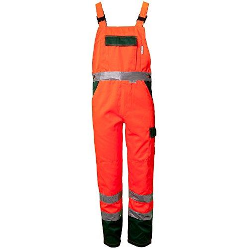 Planam Latzhose 'Warnschutz', Größe 42 in orange / grün, 1 Stück, 2028042