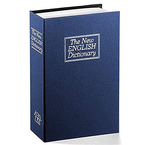 Caja de Cambio Creativo Diccionario Libro Caja de Seguro Creativo simulación Libro Seguro Mini Tanque de Almacenamiento (Color : Blue)