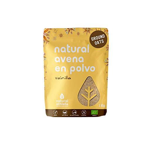 Harina de Avena Sin Gluten Natural Athlete, BIO Sin Azúcar, Sin Aditivos, Sabor...