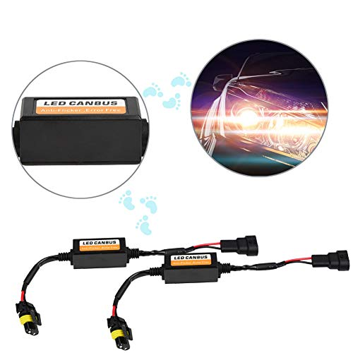 LED-Scheinwerferdecoder Anti-Flicker-Blitzfehler-Canceler Arbeiten mit allen Aftermarket-LED-Kits 9005 9006 9012.