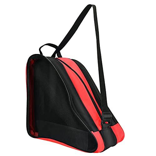 Bolsa de patinaje sobre ruedas, zootop bandolera y asa superior Oxford, bolsa de patinaje sobre ruedas, bolsa de almacenamiento de rodillos engrosada para mujeres, hombres, adultos y niños (rojo)