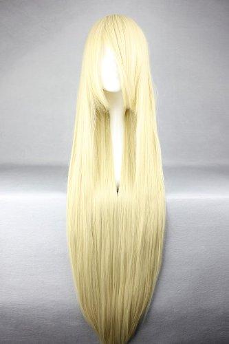 Perücke Goldblond ca. 100cm lang für Chobits - Chii Soft Cosplay oder Schaufensterpuppen Karneval oder Mottoparties