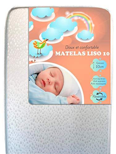 Matelas bébé doux et confortable LISO 10 PLUS (70x140)