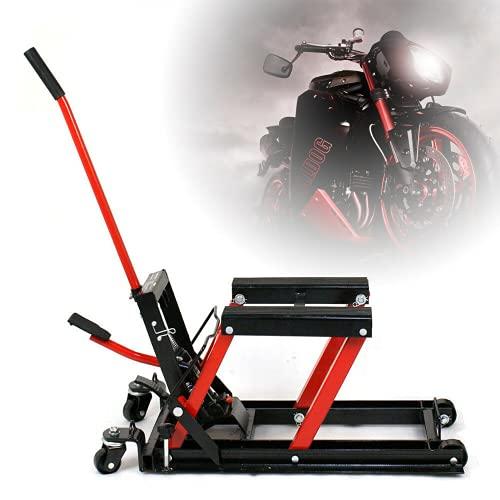 Futchoy Elevador de motocicleta hidráulico, soporte elevador para motocicleta, carga máxima de 680 kg, ATV/Quad