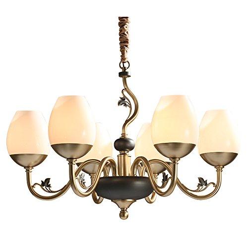 BLWX LY-hanglampen kroonluchter - Amerikaanse minimalistische woonkamer slaapkamer kroonluchters/persoonlijkheid creatieve tafel kroonluchter/hotel 6 kroonluchter