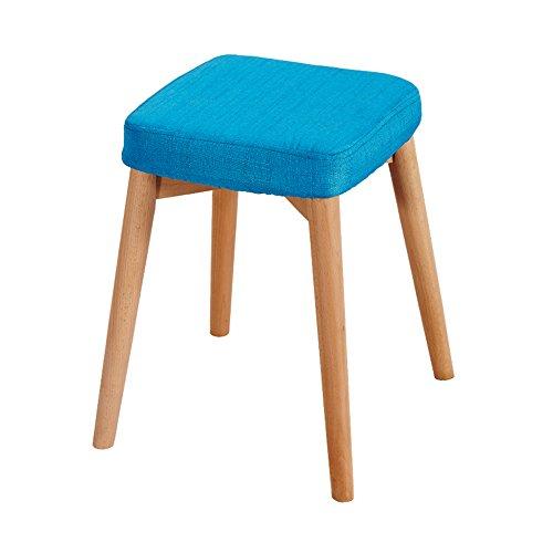 ZHANGRONG- Tabouret de bar petit déjeuner 45cm haut | Siège de cuisine en bois approprié pour des tables de barre de petit déjeuner -Tabouret de canapé (Couleur : Bleu)