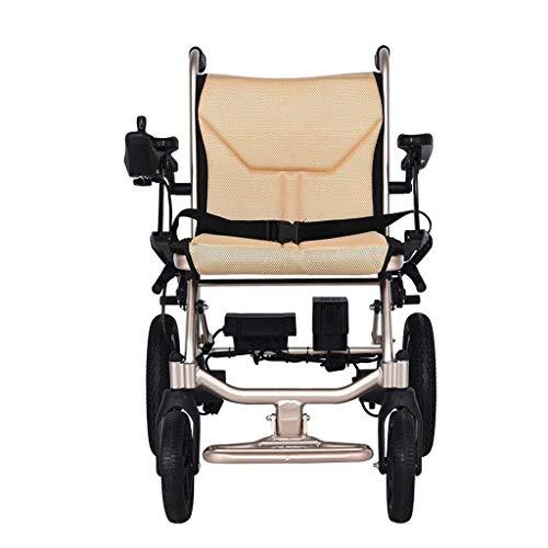 CTO Rollstuhl Kompakter Leichter Elektrorollstuhl, Intelligenter Doppelsteuersystem Tragbarer Rollstuhl, geeignet für verschiedene Straßenbedingungen, Multifunktionaler praktischer Rollstuhl von Elde