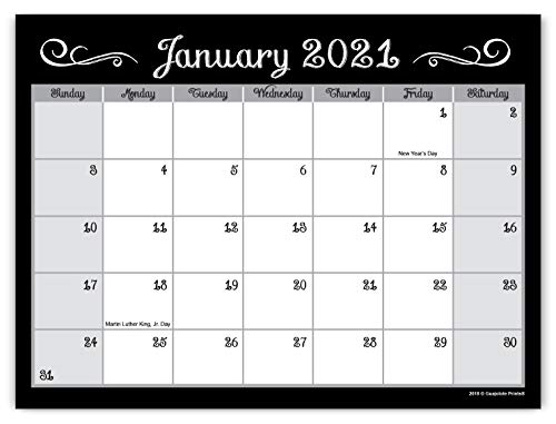 Guajolote Prints 2021-2022 Magnetic Monthly Calendar Pad for Refrigerator - 2 Years, runs from December 2020 through December 2022-7.25 x 10 inches.