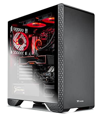 Skytech Siege 3.0 Gaming PC Desktop - AMD Ryzen 7 5800X 3.8GHz, AMD 6800 16G GDDR6, 16GB DDR4 3200, 1TB Gen4 SSD, 750W Gold PSU, 360mm AIO, AC WiFi, Windows 10 Home 64-bit