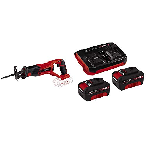 Einhell Te-AP 18 Sega a Gattuccio TE-AP18 Li Solo-famiglia Power X-Change, Rosso + 2X 3,0Ah & Twincharger PXC Starter Kit