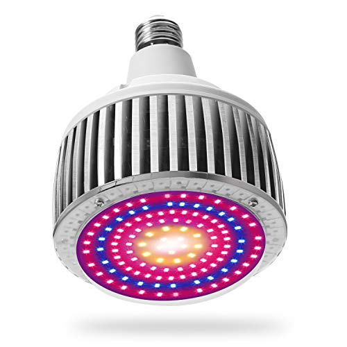 BOSYTRO 100W Plant Growth Bombillas Lamparas LED Cultivo luces LED lampara Grow Light Lámpara de Plantas Espectro Completo,Adecuado para base E27 para Invernadero hidropónico plantas Cultivo interior