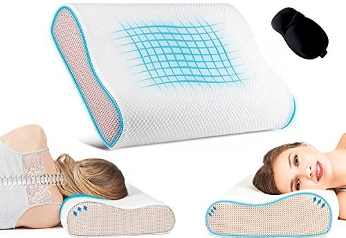 Contour Memory Foam Pillow. Neck Pillow for Neck Pain, Orthopedic Pillow,...