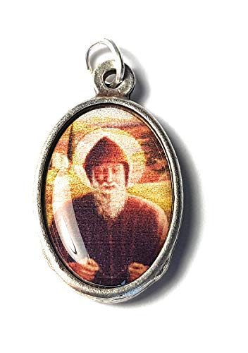 Relic Medal 3rd Class Saint Charbel Sharbel Makhlouf Maronite Monk and Priest from Lebanon Prayer for Healing
