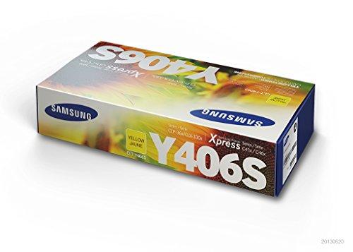 Samsung CLT-Y406S, SU462A, Amarillo, Cartucho Tóner Original, de 1.000 páginas, compatible con impresoras LaserJet Color Serie CLP-365, CLX-3300 y LaserJet Xpress Color Serie C410