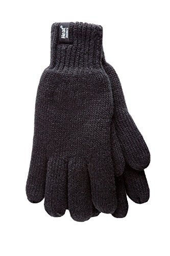 HEAT HOLDERS - Damen Thermisch Winter Handschuhe in 7 Farben (S/M, Schwarz)