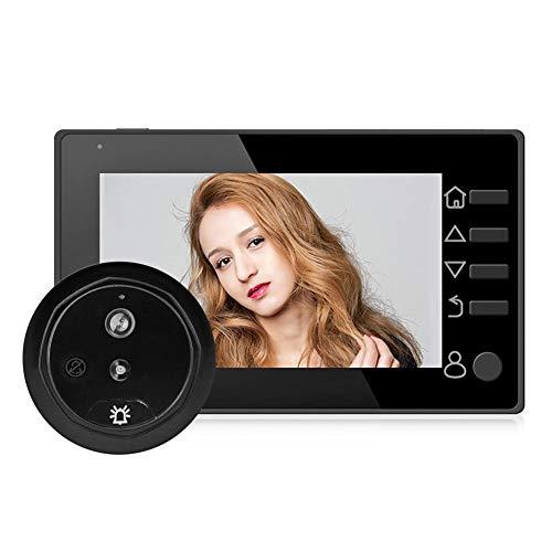 Domybest digitale bel LCD 4,3 inch digitale deurspion 145 graden camera met bewegingsmelder IR (goud)