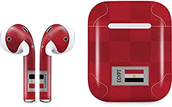 Skinit Egypt Soccer Flag Apple AirPods Skin - Original Skinit Studios Designed Audio Sticker - Thin, Case Decal Protective Wrap for Apple AirPods Gen 1