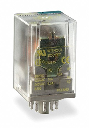 120VAC, 8-Pin Octal Base General Purpose Plug-In Relay; AC Contact Rating: 10A @ 277V