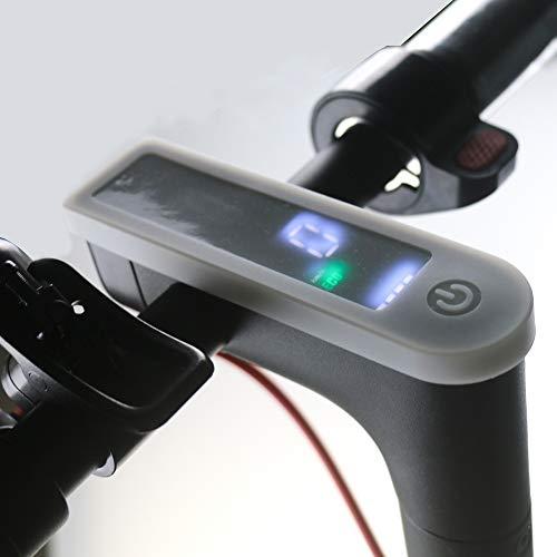 Linghuang Panel de Interruptores de Protección de Manga de Silicona para Scooter Eléctrico Xiaomi Mijia M365 / M365 Pro (Blanco)