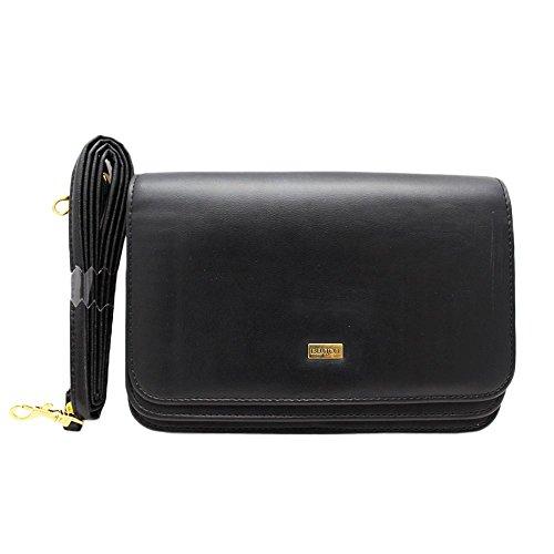 Buxton Women's Double Flap Mini-Bag, Black, One Size Buxton Mini Mini Bag