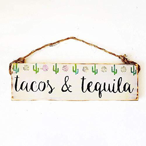 Not Branded 13x40cm Tacos y Tequila arte de la pared signo de madera de la barra del signo gitano mar california Cactus Art urbanos outfittersventa al por mayor disponible 869071