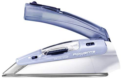 Rowenta First Class DA1510F1 - Plancha de viaje 1000 W, portátil y de fácil transporte, gran rendimiento con golpe de vapor de 45 gr/minuto, plegable con punta de precisión y doble voltaje 120 - 240 V