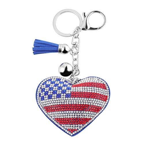 WINOMO Llavero de bandera americana llavero bolso colgante regalo decoraciones (bandera de EE. UU.)