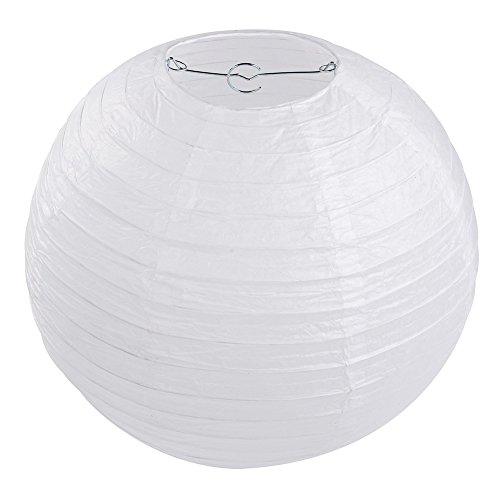 10 x Lampions Papierlaterne weiß (40cm)
