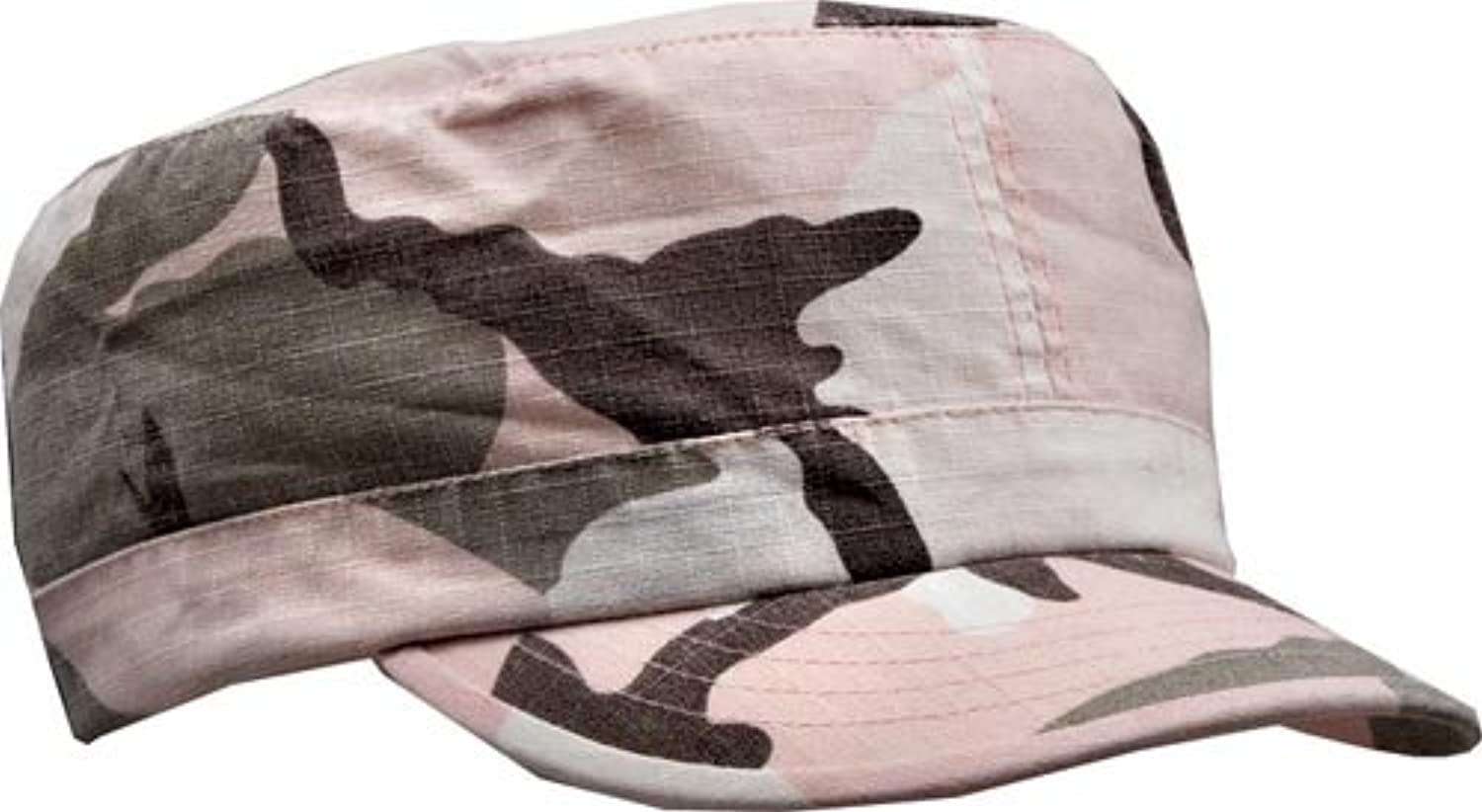 Subdued Pink Camouflage Vintage Adjustable RipStop Cap (Womens)
