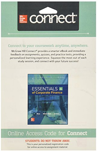 Connect 1-Semester Access Card for Essentials Corporate Finance