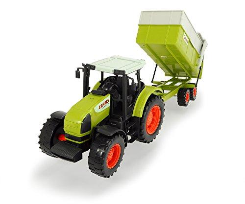 Dickie Toys CLAAS Ares Set, großer Traktor mit Anhänger und Kippmechanismus, 57 cm lang, für...