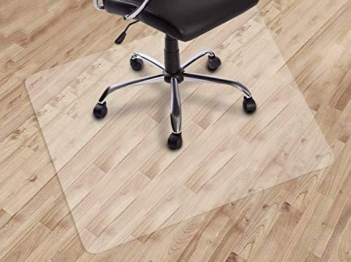 YINN - Alfombrilla para silla de oficina resistente al desgaste, 1,5 mm de grosor, alfombra de PVC duro, protección del suelo para parquet/baldosa/madera, fácil deslizamiento, 70 x 120 cm
