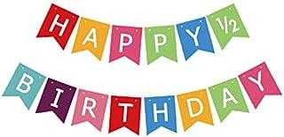 Half Birthday Banner Happy Sign Boy Girl 6 Months 1 2