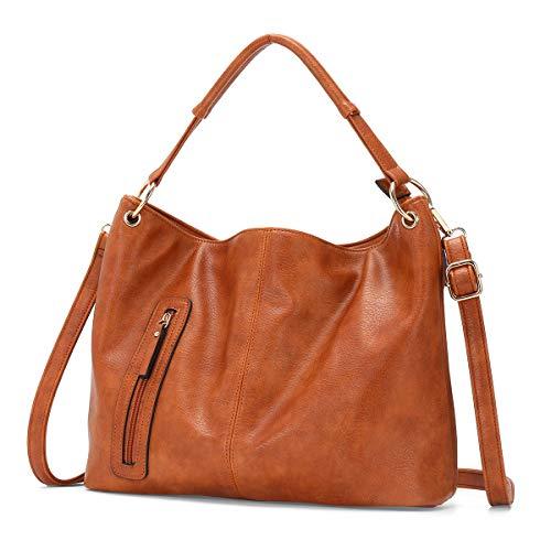 Handbag for Lady, JOSEKO Women Top Handle Satchel Hobo Bag Crossbody Bag Large Capacity Brown