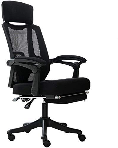 Xiuyun Executive Bürostuhl Computer Stuhl Swivel Executive hohe Rückenlehne Einstellbare Rückenstütze Ultimative 90 ° -150 ° Tilt-Mechanismus (Color : Black)