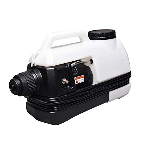 WSHA 5L Fogger Machine Disinfectant ULV Electric Sprayer Corded Back Pack Mist Duster 1200W Mist Blower Adjustable Particle Size 5-100μm, for Airports Docks